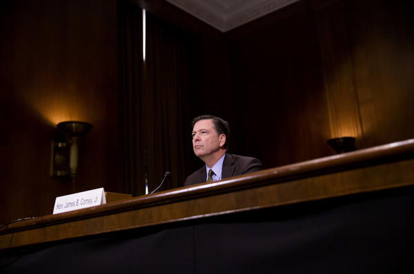 FBI Director James Comey testifies in front of the Senate Judiciary Committee on May 3 during an oversight hearing on the FBI. Comey was terminated from his position Tuesday.