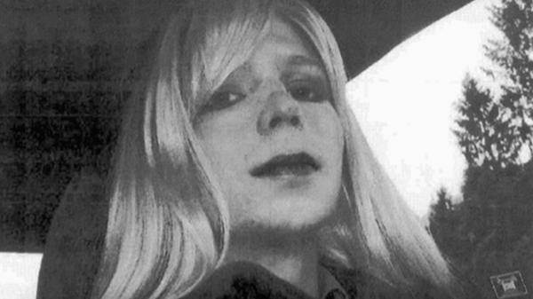 Former U.S. Army Pfc. Chelsea Manning, seen here in an undated handout photo, will be released from a military prison next Wednesday.
