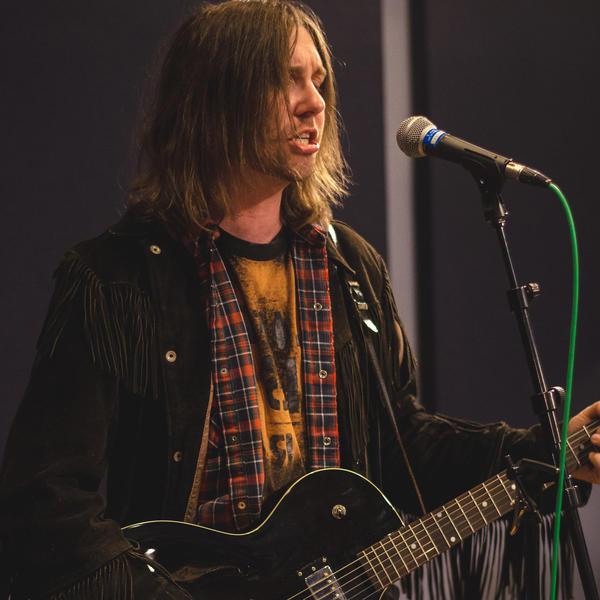 Aaron Lee Tasjan performs in the <em>World Cafe</em> studio.