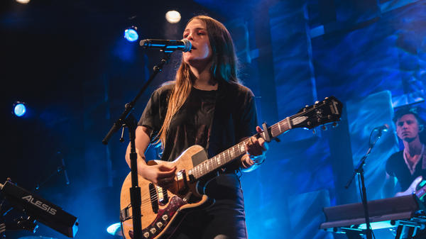 "Maggie Rogers performs at World Cafe Live during a WXPN ""Free At Noon"" concert."
