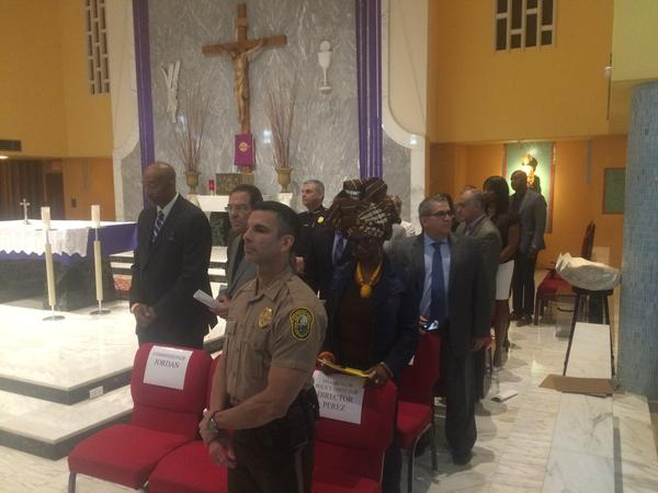 Miami-Dade Police Director Juan Perez was among officials who made commitments at the Nehemiah Action Assembly Monday night on school discipline and youth arrests, affordable housing, and gun violence.