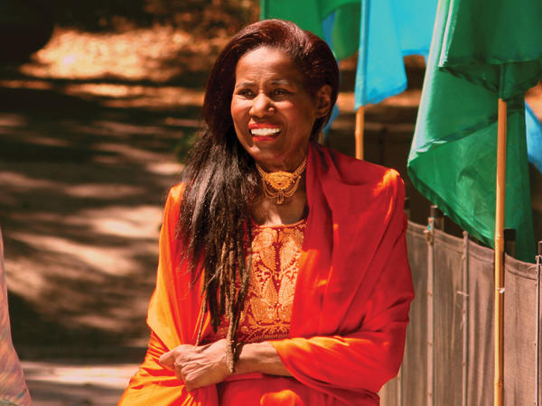 <strong></strong>The late musician and spiritual leader Alice Coltrane Turiyasangitananda, in an undated photograph taken at her ashram in Agoura, Calif.