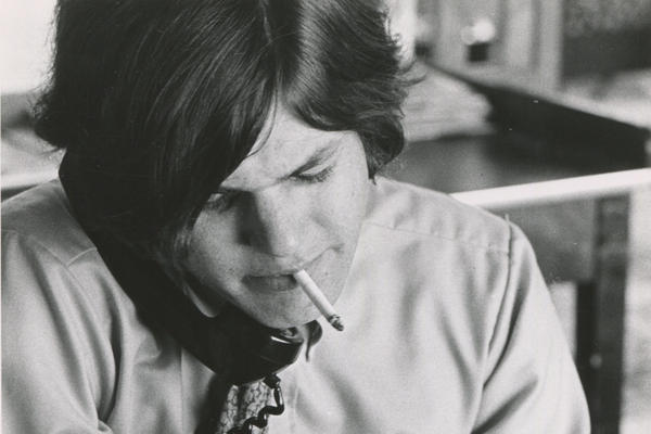 Jann Wenner, pictured in 1968, one year after founding <em>Rolling Stone</em> magazine.