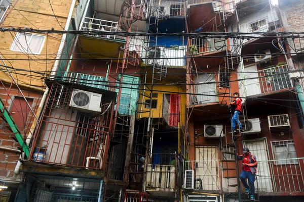 View of apartments in the Villa 31 shantytown in Buenos Aires, Argentina, on April 25, 2017.