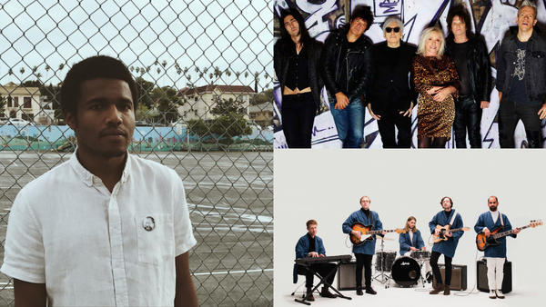 Clockwise from left: Benjamin Booker, Blondie and Real Estate.