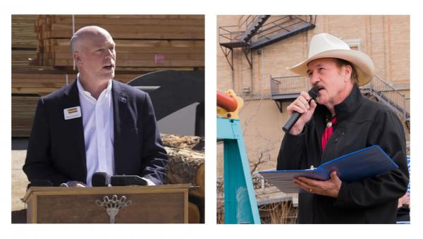 U.S. House Candidates Greg Gianforte (L) and Rob Quist (R).