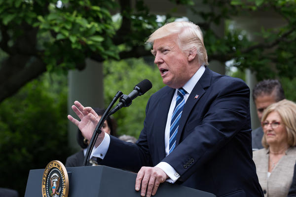 President Trump celebrated House passage of legislation to roll back the Affordable Care Act in the Rose Garden of the White House on May 4.
