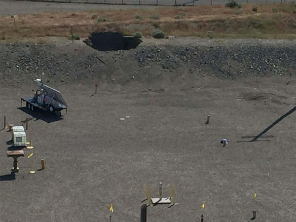 On May 9, a tunnel filled with radioactive waste caved in at the Hanford nuclear site. It result was a 20' x 20' hole.
