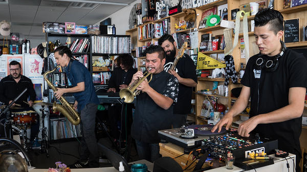 Troker performs at Tiny Desk Concert on April 5, 2017 (Marian Carrasquero/NPR)