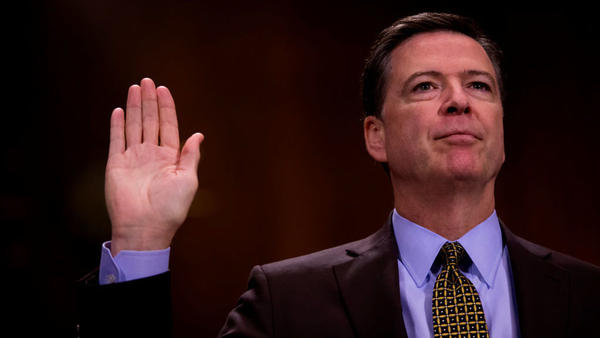 Then-FBI Director James Comey testified in front of the Senate Judiciary Committee during an oversight hearing on the FBI on Capitol Hill on May 3.