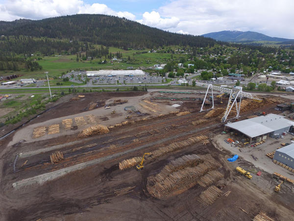 This might look like big decks of logs, but according to Josh Anderson it's only a couple days' worth of inventory at the Vaagen Brothers mill in in Colville, Washington.