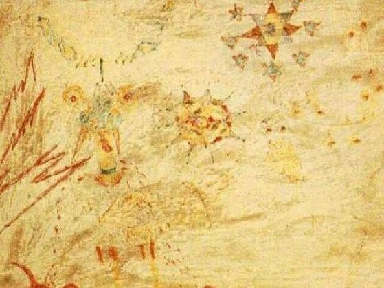 "A painting by Julian Lennon of ""Lucy in the sky with diamonds"" that would inspire his dad to write a song."