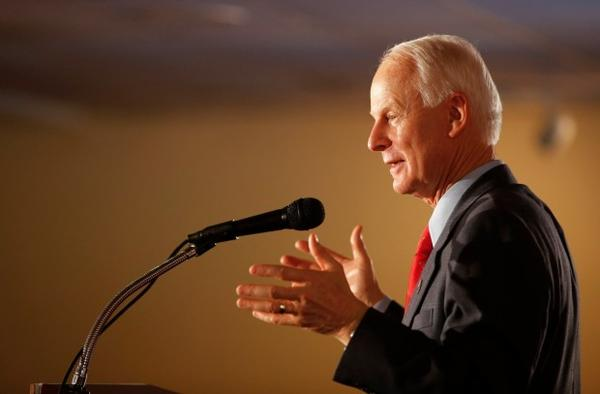 <p>In this Tuesday, Nov. 4, 2014, file photo, then Oregon gubernatorial candidate Dennis Richardson addresses supporters at the Monarch Hotel and Convention Center in Portland, Oregon. Richardson was elected as Oregon's secretary of state in 2016.</p>