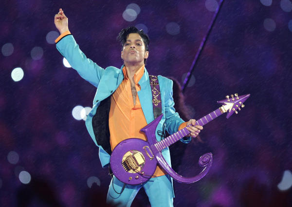 <p>Prince performs during the halftime show at the Super Bowl XLI football game in Miami. </p>