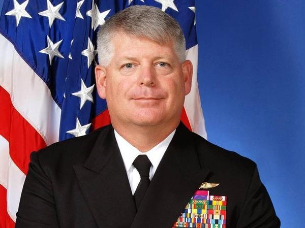 U.S. Navy Rear Adm. Robert Gilbeau has been sentenced to 18 months in prison for lying to federal officials investigating a massive corruption scandal.
