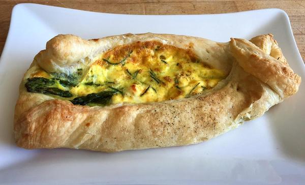 Kathy's asparagus tart. (Kathy Gunst for Here & Now)