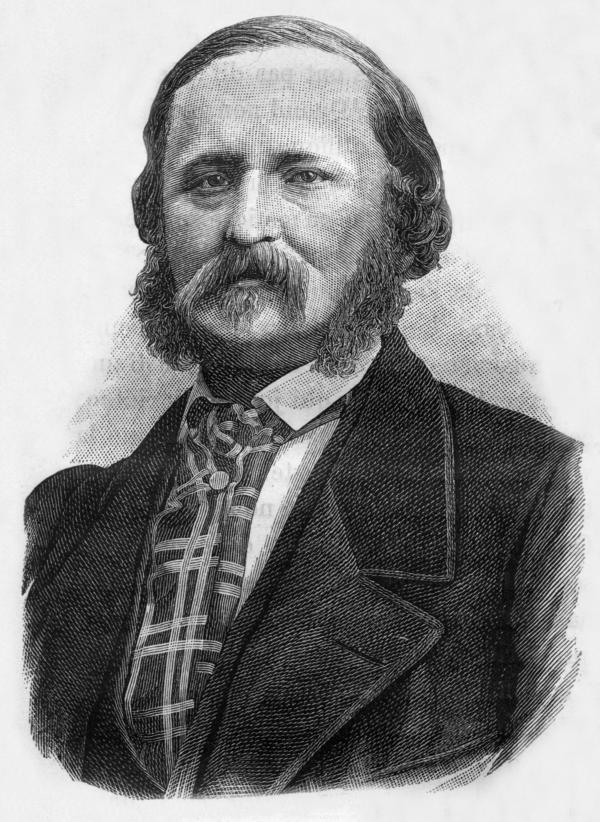 Edouard-Leon Scott de Martinville, a French writer and inventor of the phonautograph.