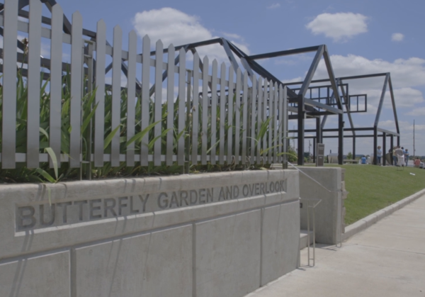 The Butterfly Garden and Overlook was created 3 years after the storm to help citizens heal.