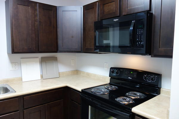The state's homeowner assistance program offers three solutions. Solution One is a state-managed program that offers economy grade finishes and appliances, pictured here.