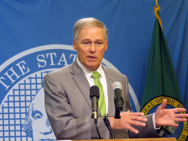 Washington Gov. Jay Inslee expressed frustration at times Tuesday discussing the slow pace of state budget negotiations.