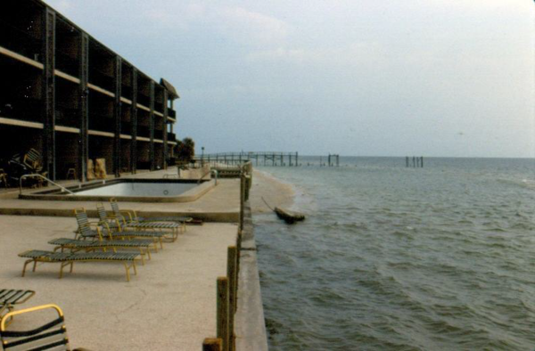 A stretch of Indian Rocks Beach after Hurricane Elena rocked the Gulf Coast in 1985.