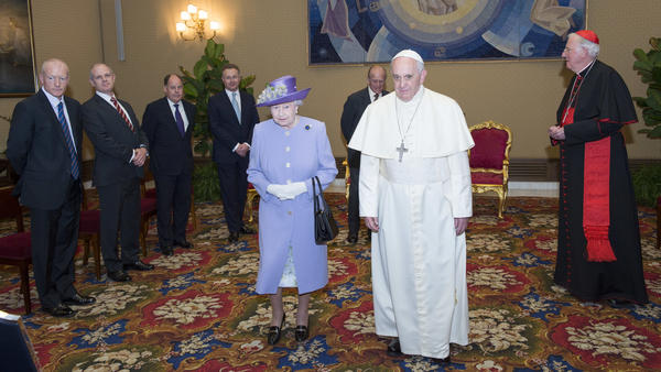 The acceptance of Queen Elizabeth II's decision to wear a lilac suit to meet with Francis in 2014 was seen as an effort by the pope to relax some Vatican rules.