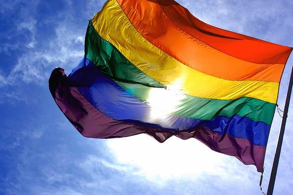 Rainbow flag, often associated with the LGBT movement