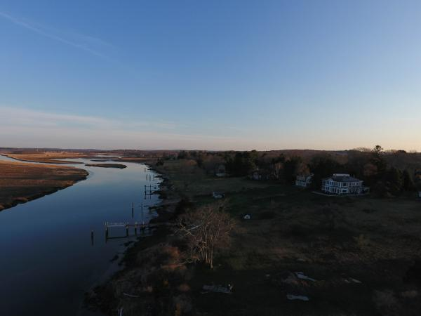 The Back River in Old Lyme, Connecticut, a tributary to the Connecticut River.