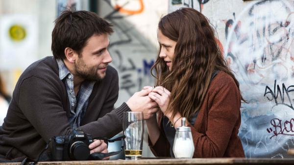 A tryst with Andi (Max Riemelt) makes a captive out of Clare (Teresa Palmer) in <em>Berlin Syndrome. </em>