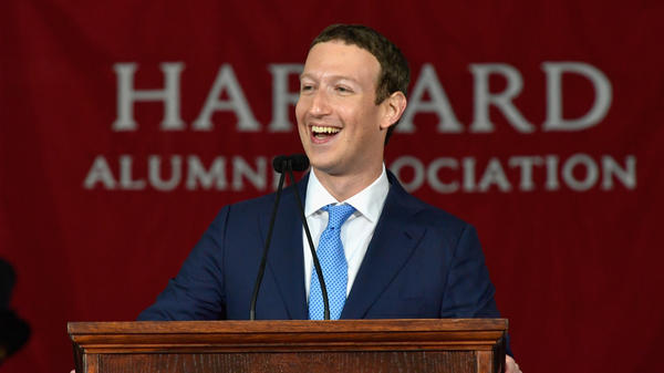 "Mark Zuckerberg told graduates to pursue ""big meaningful projects."""