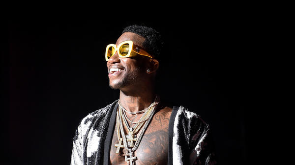 Gucci Mane on stage during the Gucci and Friends Homecoming Concert at Atlanta's Fox Theatre on July 22, 2016.
