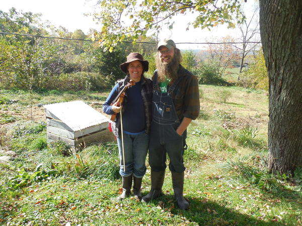 Frances and Tim Sauder on their farm in Quarryville, PA