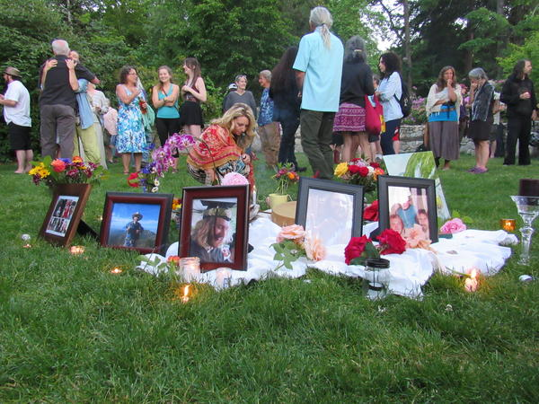 The memorial for Taliesin Nomkai-Meche was held in Ashland's Lithia Park on Saturday evening.
