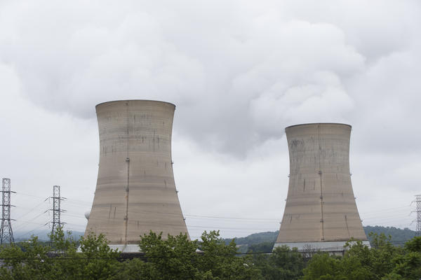 Cooling towers at the Three Mile Island nuclear power plant in Middletown, Pa., earlier this month.