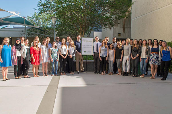The first class of the USF Health Physician Assistant program met in early May.