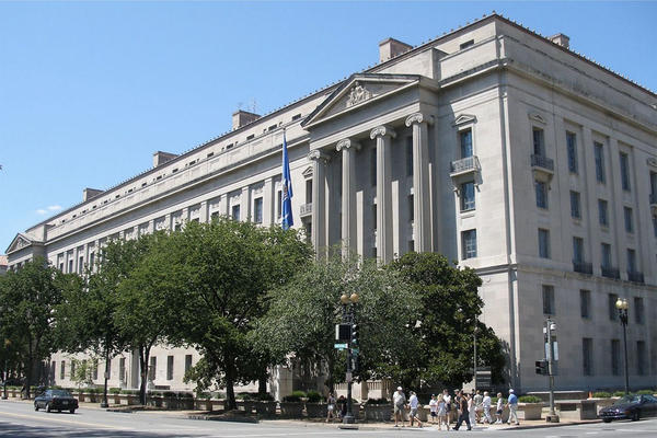 File photo of the Robert F. Kennedy Department of Justice Building in Washington, D.C., headquarters of the U.S. Department of Justice.