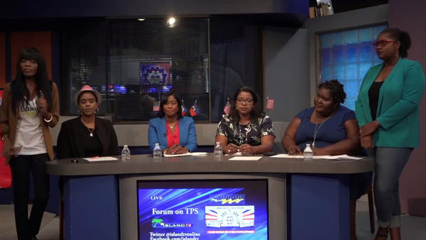 From left to right: Wanda Tima-Gilles (L'Union Suite Founder), Vanessa Joseph (Immigration Law Attorney), Soeurette Michel (Michel Law Firm), Patricia Elizee (Elizee Law Firm), and Francesca Menes (Policy Director for the Florida Immigration Coalition)