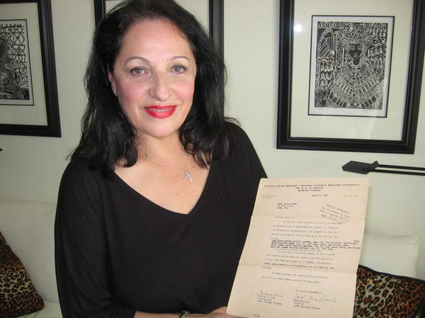 Carmen Valdivia still has the visa waiver she received from the U.S. government in 1962 that allowed her to leave Cuba for Miami.