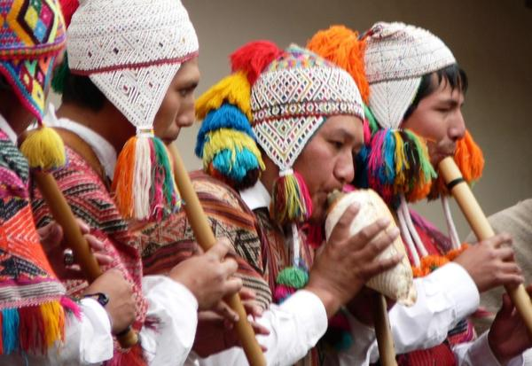 Musicians perform at the inaugural ceremony of the International Center for the Study of Machu Picchu and Inca Culture — a partnership between Yale University and The National University of San Antonio Abad in Cuzco.
