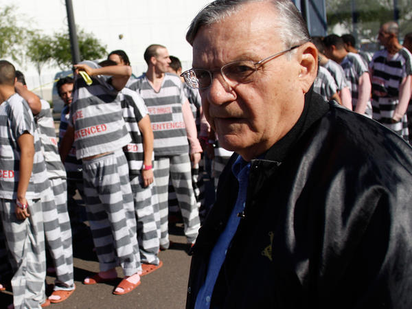 "Maricopa County Sheriff Joe Arpaio has forced inmates to wear pink and live in tent cities, gaining him a reputation as <a href=""http://www.npr.org/templates/story/story.php?storyId=88002493"">America's toughest sheriff</a>."