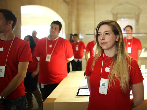 Apple's store in New York City's Grand Central station employs about 315 people.