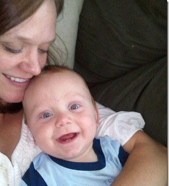 Becky Cole was eight months pregnant with her son Ryan when she passed out. Her husband performed CPR for six minutes with the help of a dispatcher before medics arrived.