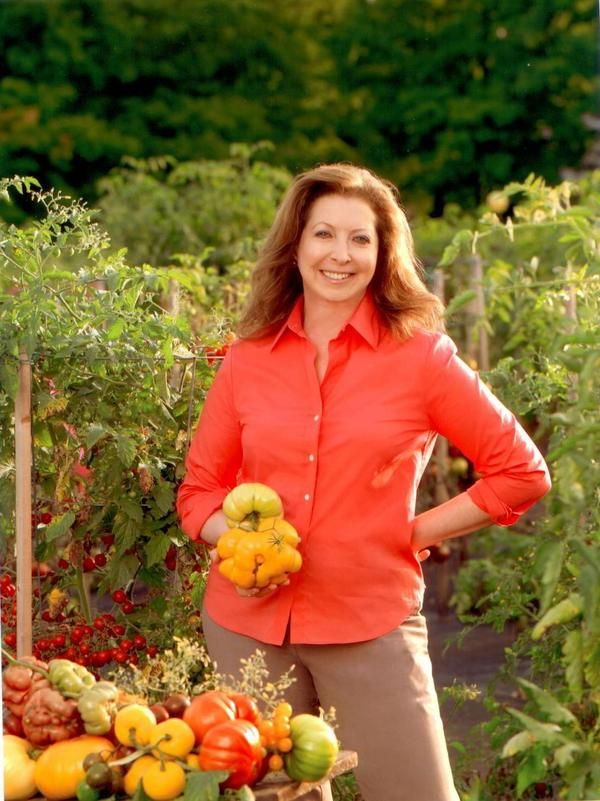 Amy Goldman, known for her gardens and her illustrated coffee-table books about plants, has donated $1 million to a pro-Obama superPAC.