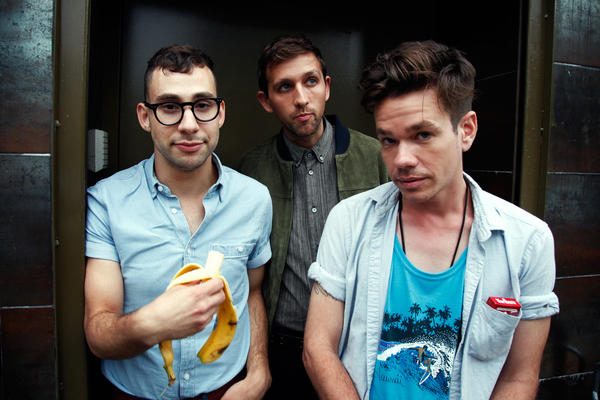 <strong>All Good fun.</strong>: Band members (from left) Jack Antonoff, Andrew Dost and Nate Ruess (before he quit smoking) in Brooklyn, N.Y.