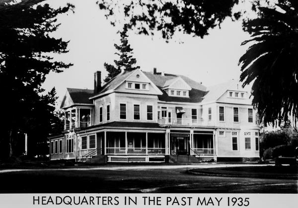 Campus headquarters, 1935.