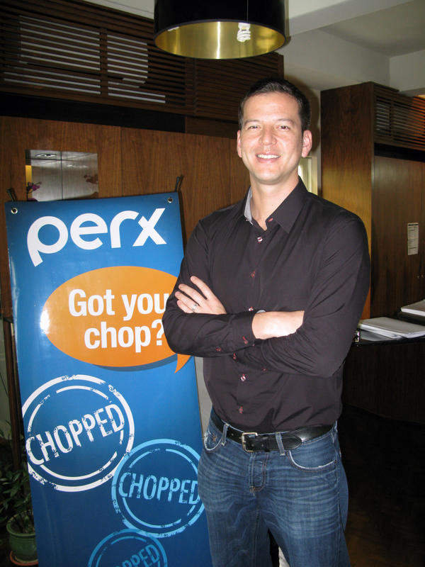 Andrew Roth is co-founder of Perx, a Singapore-based firm that uses smartphones as virtual loyalty cards.