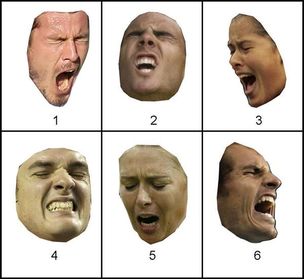 <strong>Can You Tell Emotion From Faces Alone?</strong> A new study suggests that when people evaluated just facial expressions — without cues from the rest of the body — they couldn't tell if the face was showing a positive or negative emotion. <strong>Enlarge this photo to see the answers.</strong>