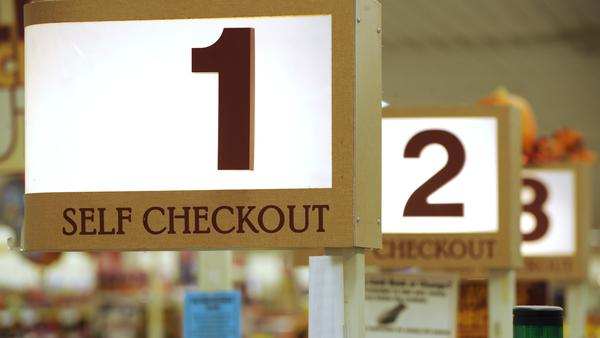 Retailers are finding that shoplifting at self-serve checkout lines is surprisingly common.