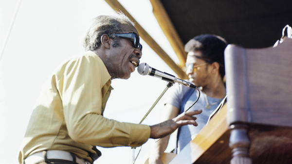 Professor Longhair performs at the New Orleans Jazz & Heritage Festival, circa 1970.