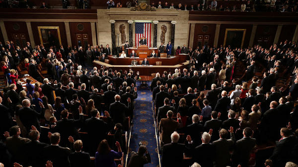 House Speaker John Boehner swears in the newly elected members of the 113th Congress on Thursday.